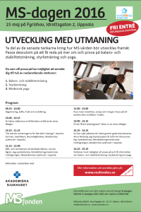 MS-dagen 2016 program